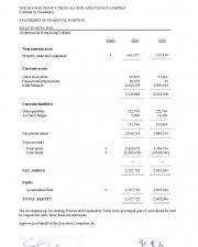 2020年資產負債表